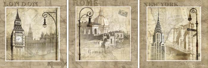 postales antiguas para decoupage 1