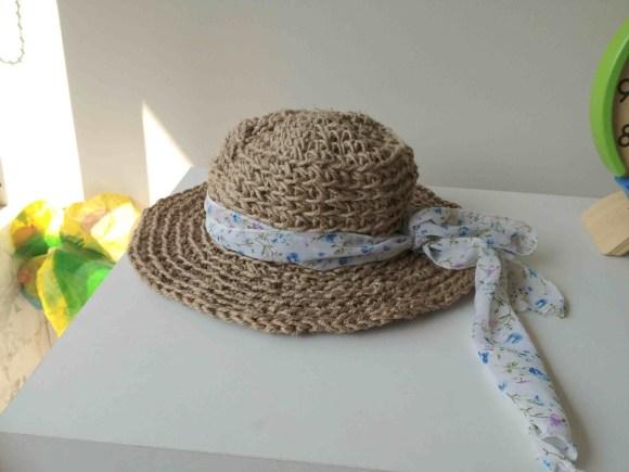 crochet con rafia o hilo sisal 1