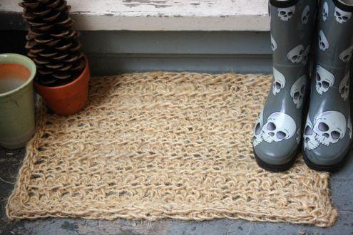 Como hacer una alfombra de hilo sisal