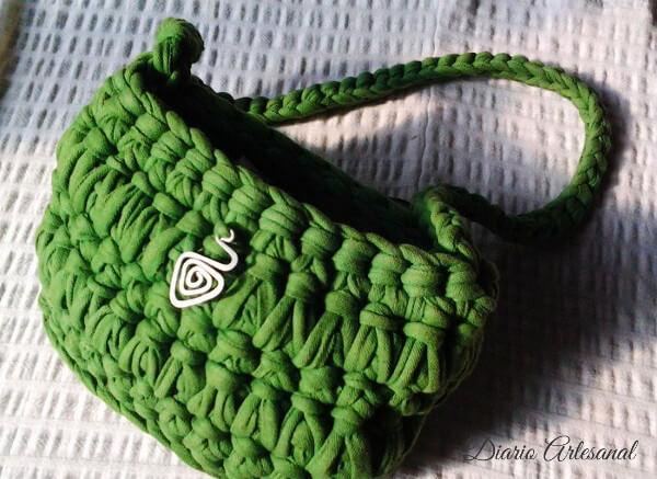 Bolso de trapillo verde