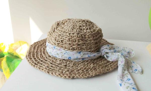 Crochet con rafia o hilo sisal