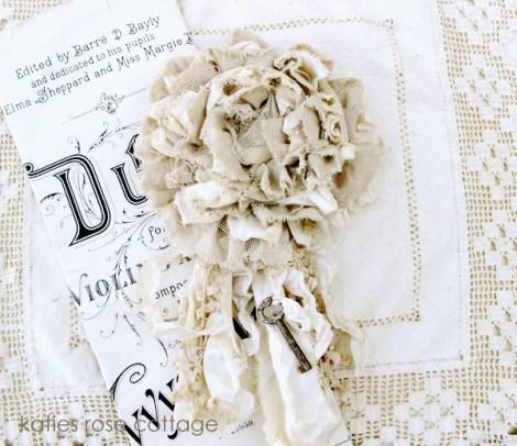 Flores de arpillera modelo de flor de tela vintage