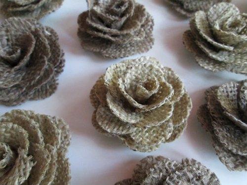 Flores de arpillera modelo de rosa pequeña