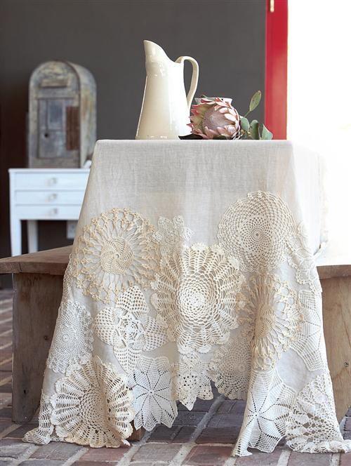 decorar-mantel-con-crochet