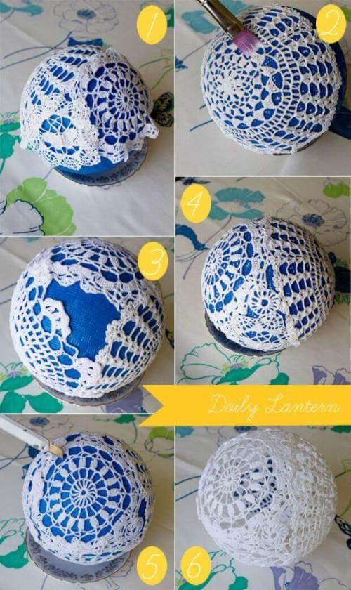 Ideas para decorar con crochet lámpara paso a paso