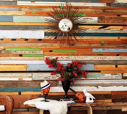 de pared de madera