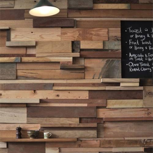 Inspiradoras ideas de revestimientos para paredes - Decorar paredes con madera ...