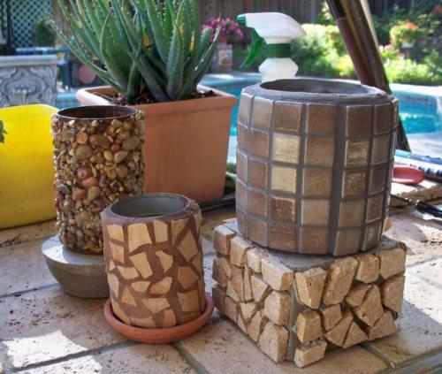 Técnica mosaico con latas recicladas