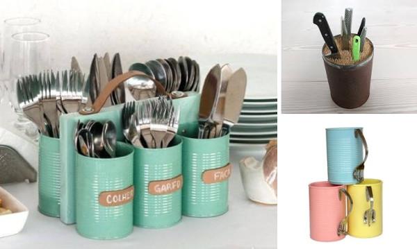 Reciclar latas para la cocina