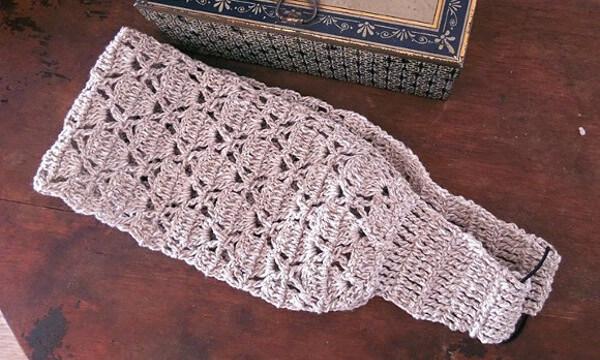 Tejer una vincha japonesa crochet facil