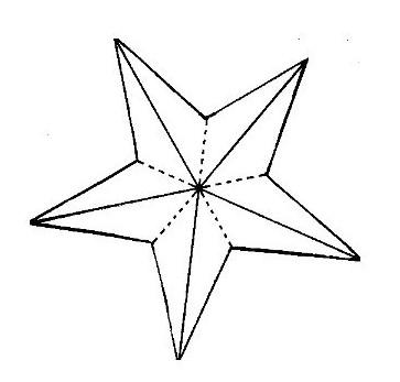 Plantilla estrella reciclaje para navidad