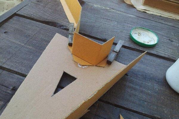 Crear la letra con el cartón