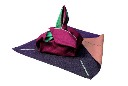 Bolsos furoshiki modelo de tela para bolso