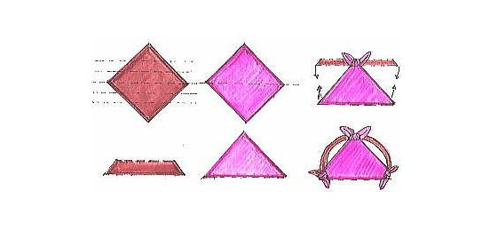Bolsos furoshiki paso a paso gráfico para hacer una mochila