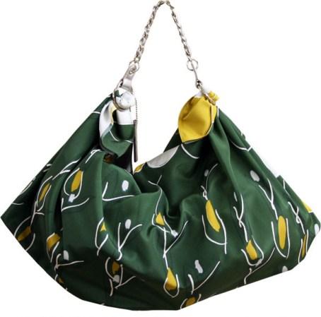 Bolsos furoshiki modelo con asa cadena