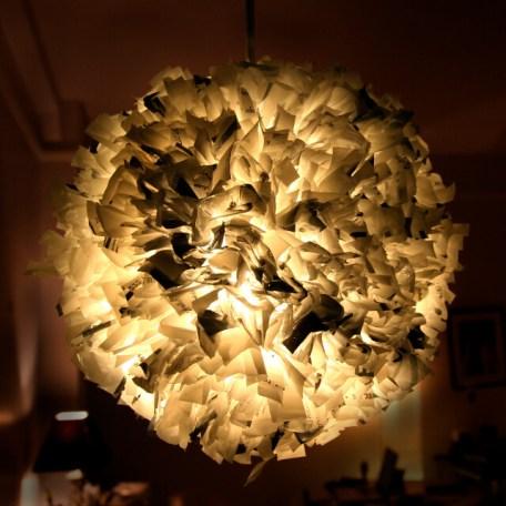 Ideas para reciclar bolsas lámpara artesanal