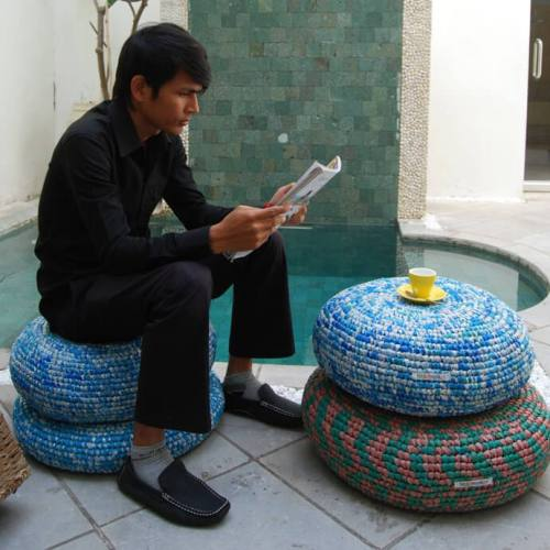 Ideas para reciclar bolsas puff crochet