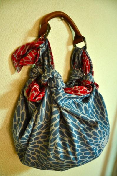 Bolsos furoshiki modelo con asa