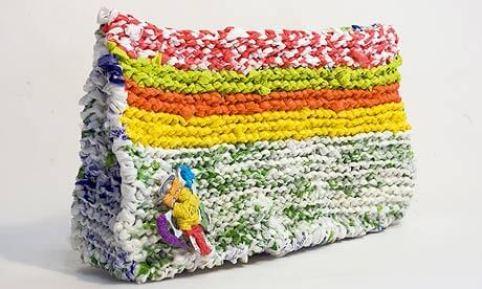Ideas para reciclar bolsas bolso artesanal