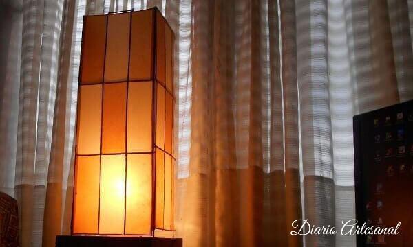 Lámpara artesanal reciclada