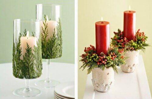 Candelabros decorativos para navidad
