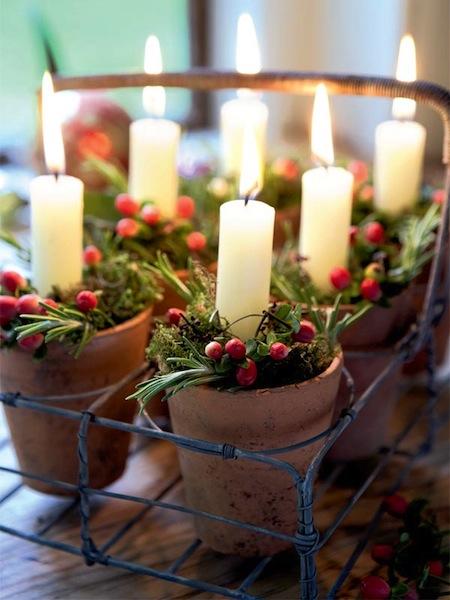 decoracion navidad velas