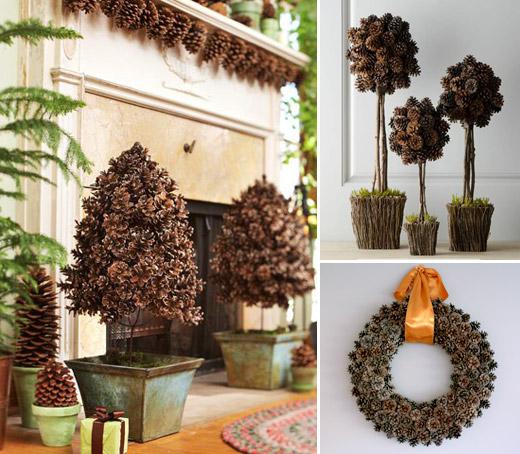 decoraciones naturales navidad
