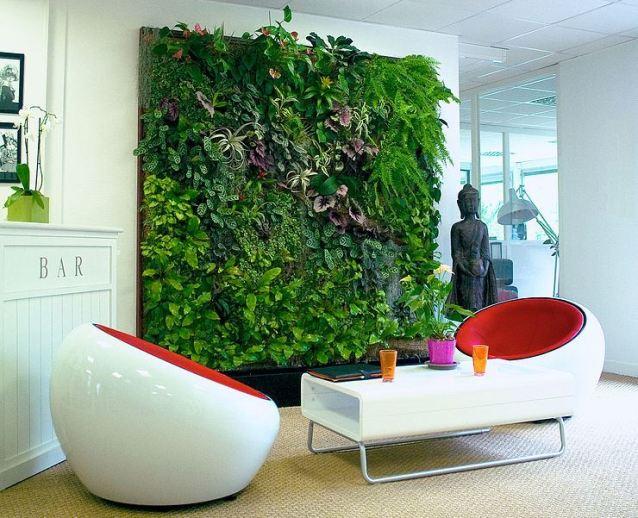 Cómo hacer un jardín vertical panel interior