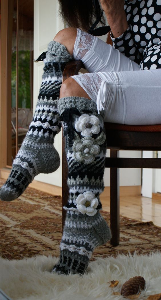 medias a crochet 3
