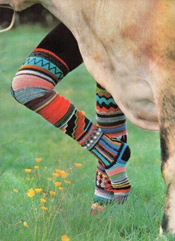 Patrones de calcetines y medias de colores modelo original