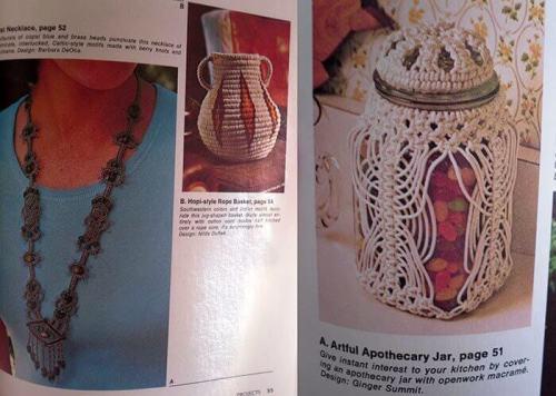 Ideas para decorar con macramé modelo de bisutería, jarrón y frasco reciclado