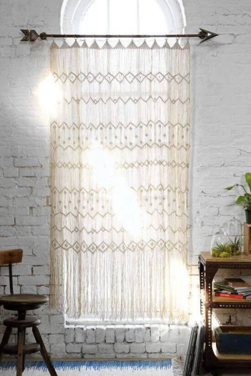 Ideas para decorar con macramé cortinas