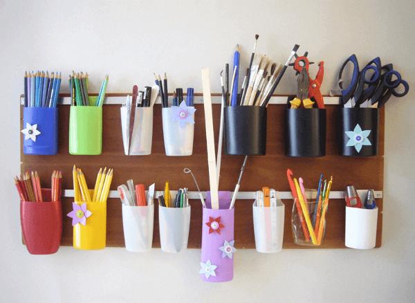 Reciclaje botellas de champú ideas organizador