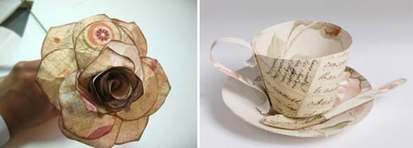Reciclaje de papel ideas decoraciones