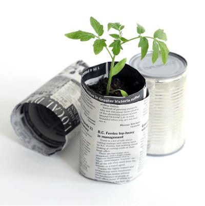 Reciclaje de papel ideas macetas