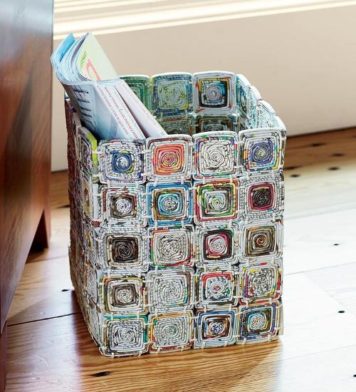 Reciclaje de papel ideas organizar la casa