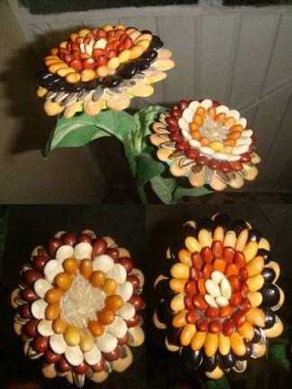 Manualidades con semillas y granos para la cocina