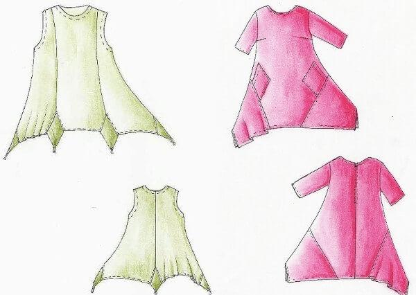 Patrones vestidos con reciclaje