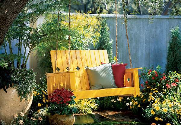 Hamaca artesanal para el jardin