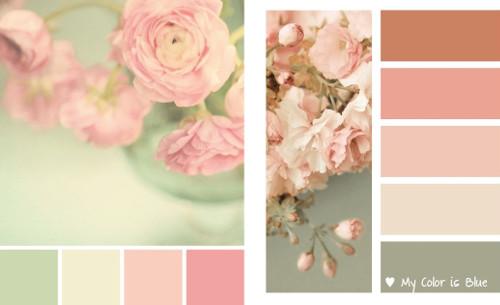30 paletas de colores vintage y shabby para la decoraci n - Paletas de colores para interiores ...
