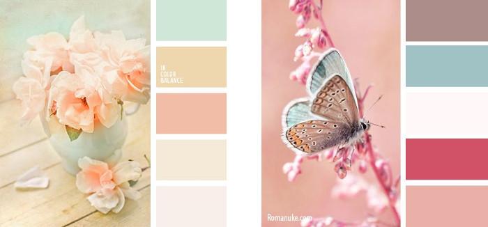 Paleta colores vintage melocoton