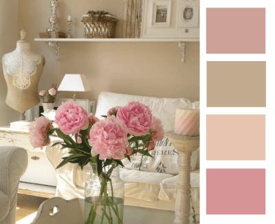 Paleta de colores vintage para la decoración de interiores