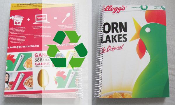 Cuaderno espiral y libretas recicladas: Reciclaje en la oficina