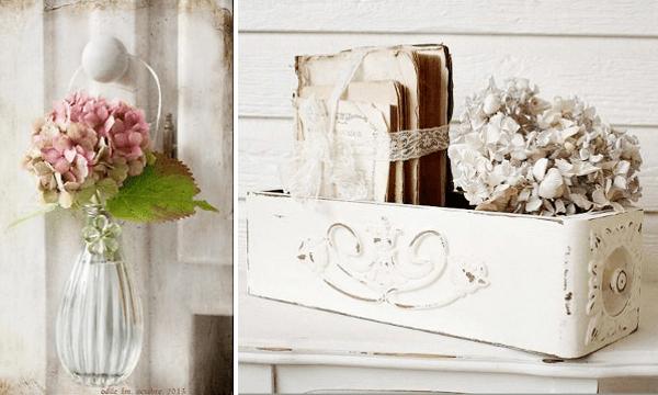 Hortensias para shabby decoración