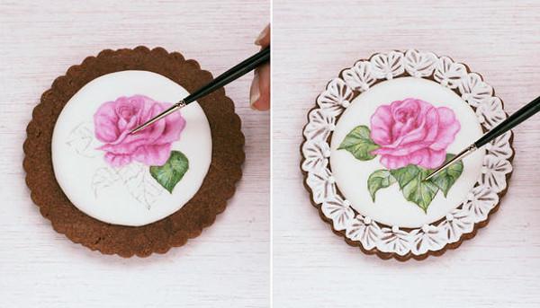 Pintar dibujos en galletas