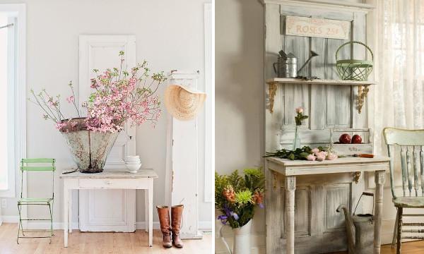 Decoraci n retro vintage con puertas y ventanas for Puertas antiguas para decoracion