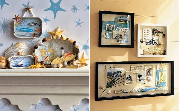 Dioramas hechos con recuerdos de las vacaciones
