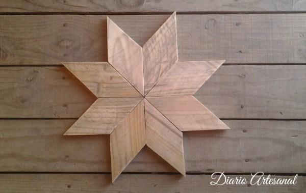 Unir las piezas de la estrella de palet
