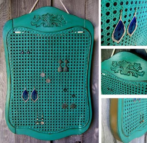 Reciclar una silla y hacer un organizador de bisutería