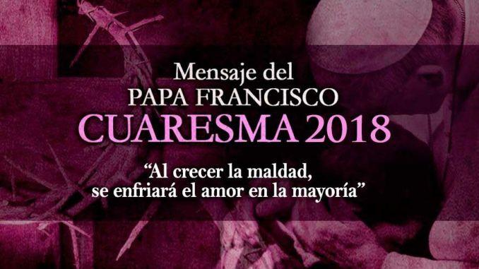 Mensaje del Papa Francisco 2018